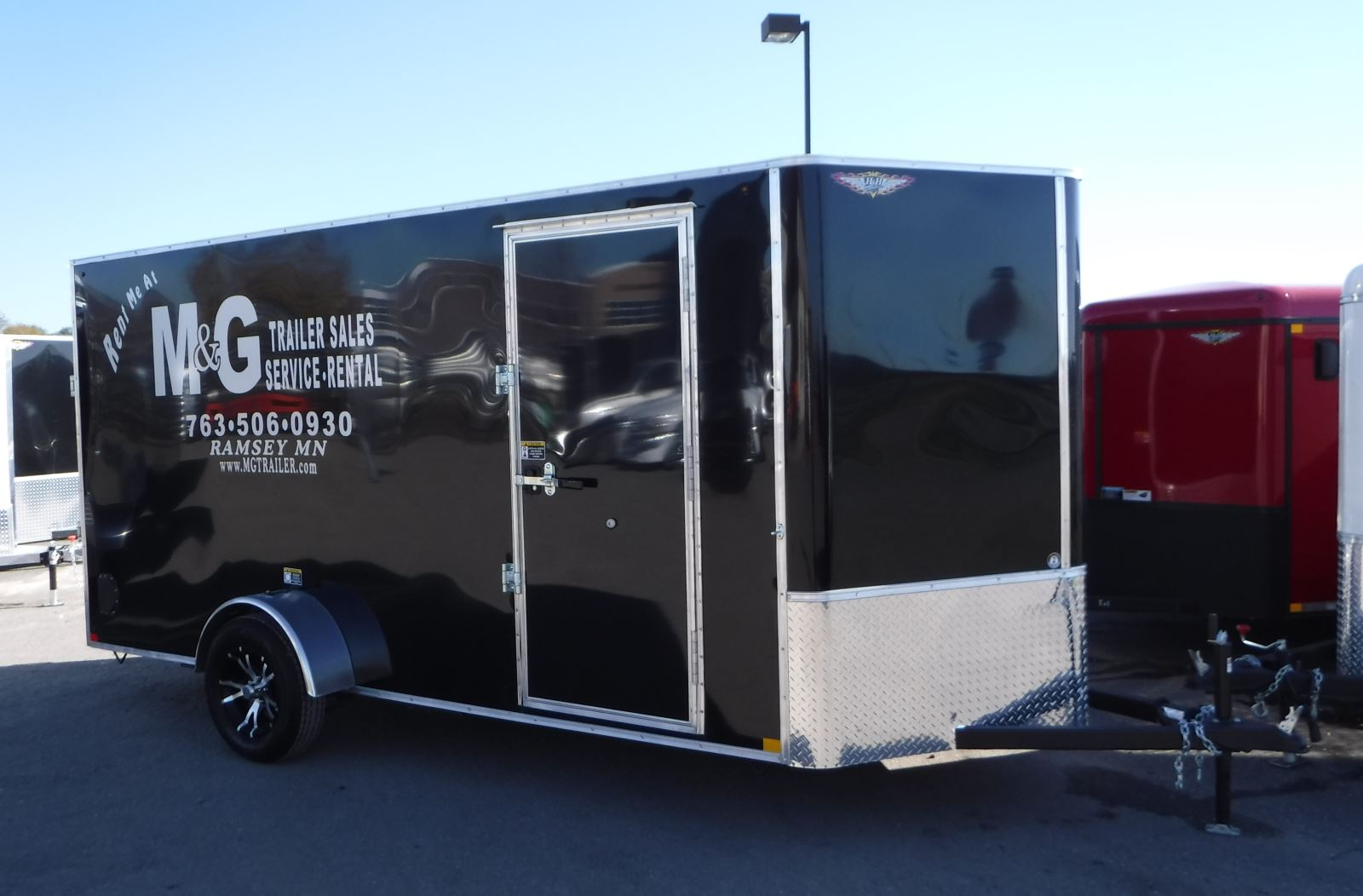 6 x 14 single axle enclosed trailer rental