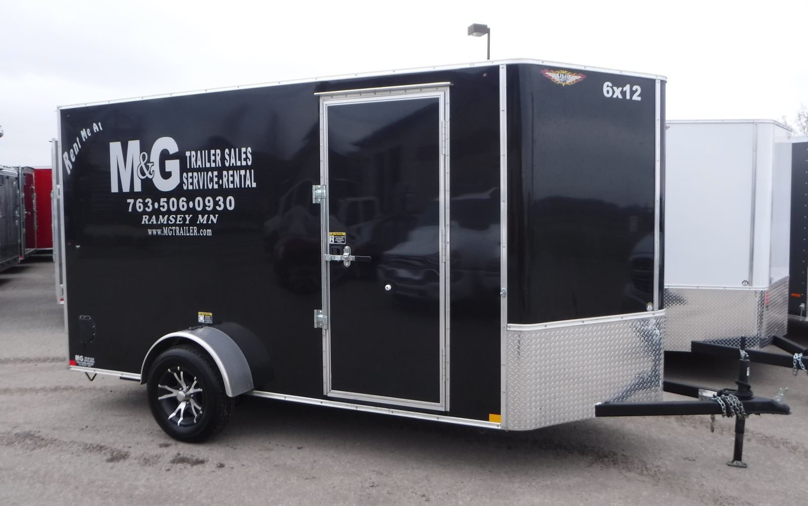 6x12 single axle enclosed trailer rental